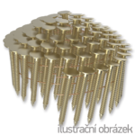 Hřebíky do krytiny ve svitku 16° 3,05 x 19 mm, konvexní, galvanický zinek