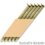 Hř. pásk. v papíru 34° 2,8 x 63 D-hlava konvex zinek 12µ