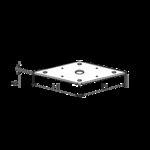 Deska k patce pilíře 110x110x4,0 M24 (bez matky)