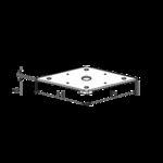 Deska k patce pilíře 80x80x4,0 M24 (s přivařenou matkou)