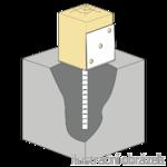 Patka kotevní do betonu Typ L 80x80x4,0