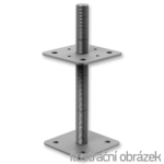 Patka pilíře 110x110x330x4,0 M24 volná matka