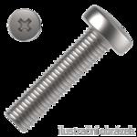 Šroub s půlk. hlavou M3x30 mm ZB PH, DIN 7985 4.8