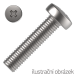 Šroub s půlk. hlavou M3x6 mm ZB PH, DIN 7985 4.8