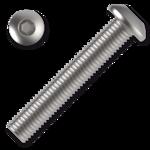 Šroub s půlkulatou hlavou, imbus M8x45 ZB ISO 7380 10.9