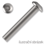 Šroub s půlkulatou hlavou, imbus M4x12 ZB ISO 7380 10.9