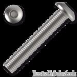 Šroub s půlkulatou hlavou, imbus M4x6 ZB ISO 7380 10.9