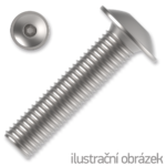 Šroub s půlkulatou hlavou s límcem, imbus M4x8 ZB ISO 7380-2FL 10.9