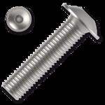 Šroub s půlkulatou hlavou s límcem, imbus M8x50 ZB ISO 7380-2FL 10.9