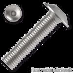 Šroub s půlkulatou hlavou s límcem, imbus M4x10 ZB ISO 7380-2FL 10.9