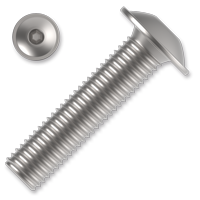 Šroub s půlkulatou hlavou s límcem, imbus ISO 7380-2FL