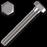 DIN 933 8.8 se závitem k hlavě, bílý zinek