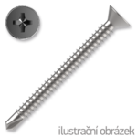 Šroub samovrtný TEX 3,9x13 ZB zápust.hlava DIN7504P