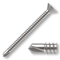 Šroub samovrtný TEX se zápustnou hlavou DIN 7504P