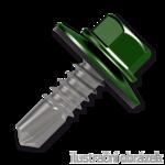 Šroub samovrtný (farmářský) 4,8x20 s podložkou EPDM (RAL 6020) zelená