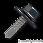 Šroub samovrtný (farmářský) 4,8x20 s podložkou EPDM (RAL 7016) šedá