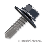 Šroub samovrtný (farmářský) 4,8x20 s podložkou EPDM (RAL 7024) šedá