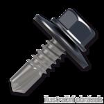 Šroub samovrtný (farmářský) 4,8x35 s podložkou EPDM (RAL 7024) šedá
