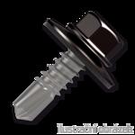 Šroub samovrtný (farmářský) 4,8x35 s podložkou EPDM (RAL 8019) hnědá