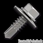 Šroub samovrtný (farmářský) 4,8x35 s podložkou EPDM (RAL 9006) bílý hliník