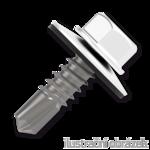 Šroub samovrtný (farmářský) 4,8x35 s podložkou EPDM (RAL 9010) bílá