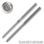 Kombinovaný vrut/šroub M10x100 TX25 ZB
