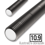 Závitová tyč M24x1000, 10.9 bez povrch. úpravy