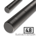 Závitová tyč M8x1000, 4.8 bez povrch. úpravy