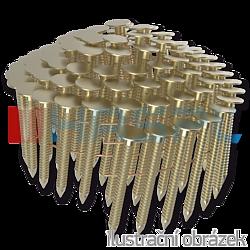 Hřebíky do krytiny ve svitku 16° 3,1 x 45 mm, konvexní, zinkované