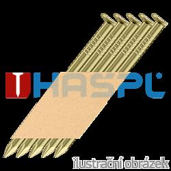 Hř. pásk. v papíru 34° 2,8 x 63 D-hlava hladké, 12µm žlutý zinek