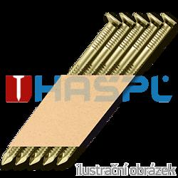 Hř. pásk. v papíru 34° 3,1 x 80 D-hlava konvex zinek 12µ