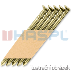 Hř. pásk. v papíru 34° 2,8 x 65 D-hlava konvex 13µ žlutý zinek