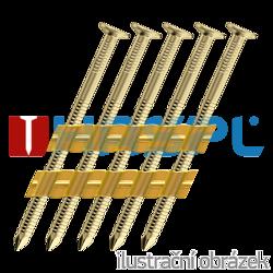 Hř. pásk. v plastu 20° 3,1 x 90 konvexní zinkované