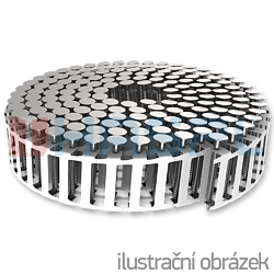 Páskované hřebíky v plastovém svitku 2,5 x 35 mm konvexní nerez A2