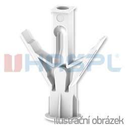 Hmoždinka rozvírací dutinová HRD 10x19, polyamid - 1