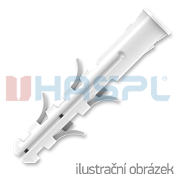 Hmoždinka UPA-L standard s lemem 6x30mm nylon