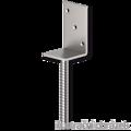 Patka kotevní do betonu Typ L 100x80x4,0 - 1/3