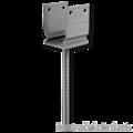 Patka kotevní do betonu Typ U 140x120x4,0 s prolisem - 1/3