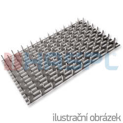 Styčníková deska s hroty 126x252x1,5 - 1