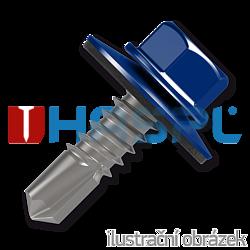 Šroub samovrtný (farmářský) 4,8x35 s podložkou EPDM (RAL 5010) modrá