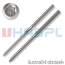 Kombinovaný vrut/šroub M8x100 TX25 ZB