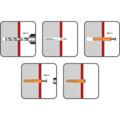 Hmoždinka natloukací 6x55mm hříbková, nylon - 2/2