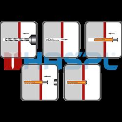 Hmoždinka natloukací 6x35mm plochá, nylon - 2