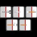 Hmoždinka natloukací 10x180mm zápustná, polypropylen - 2/2