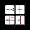 Hmoždinka ocelová dutinová HOD-S 12x52mm+ šroub M6 čočk.hlava pozidrive ZB - 2/2