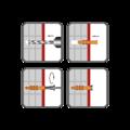 Hmoždinka rámová RMS 10x120mm, nylon+vrut se šestihran.hlavou - 2/2