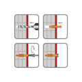 Hmoždinka rámová RMS 8x100mm, nylon+vrut se šestihran.hlavou - 2/2