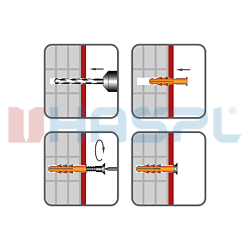 Hmoždinka rámová RMT 10x160mm, nylon+vrut se záp.hlavou, torx - 2