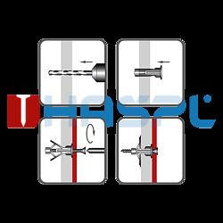 Hmoždinka rozvírací dutinová HRD 10x19, polyamid - 2