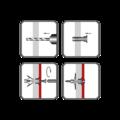 Hmoždinka rozvírací dutinová HRD 10x19, polyamid - 2/2